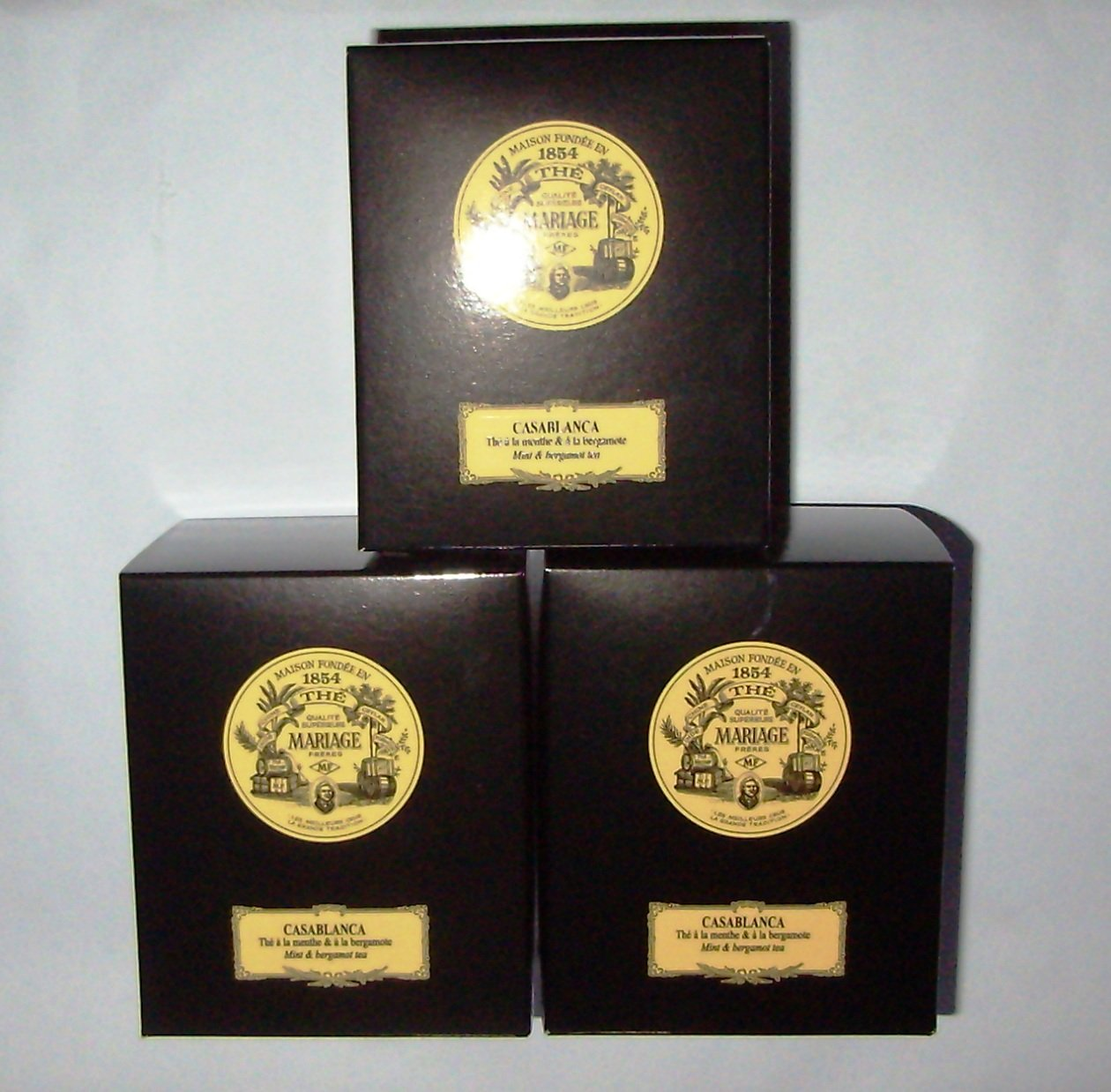 Mariage Frères - CASABLANCA® - 3 x TIN'S of Black classical sealed 3.52oz / 100gr canister / tin