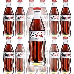 Diet Coke, 8 Fl Oz Glass Bottle (Pack of 12, Total of 96 Oz)