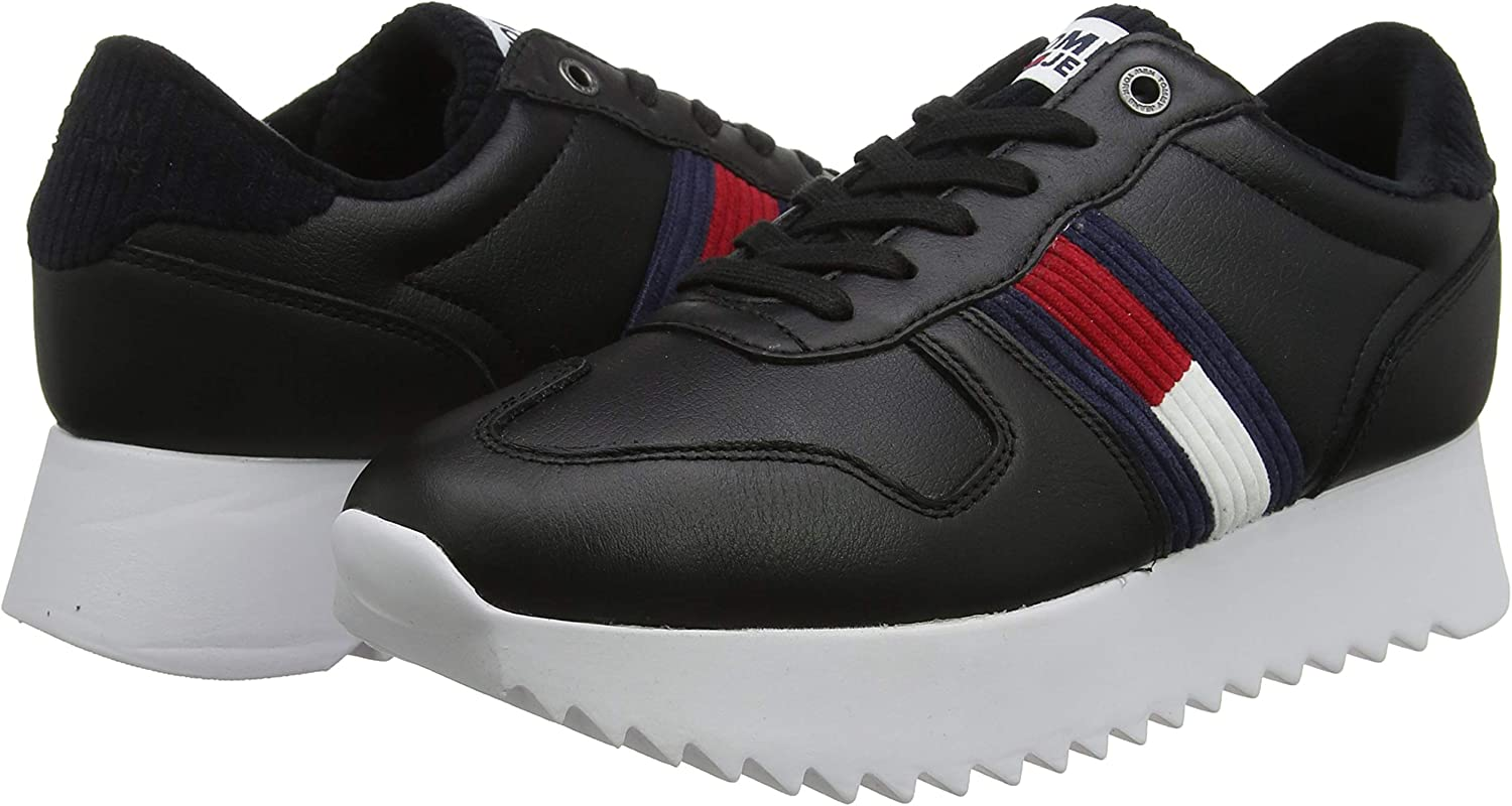 Tommy Hilfiger High Cleated Seasonal Sneaker, Scarpe da Ginnastica Basse Donna