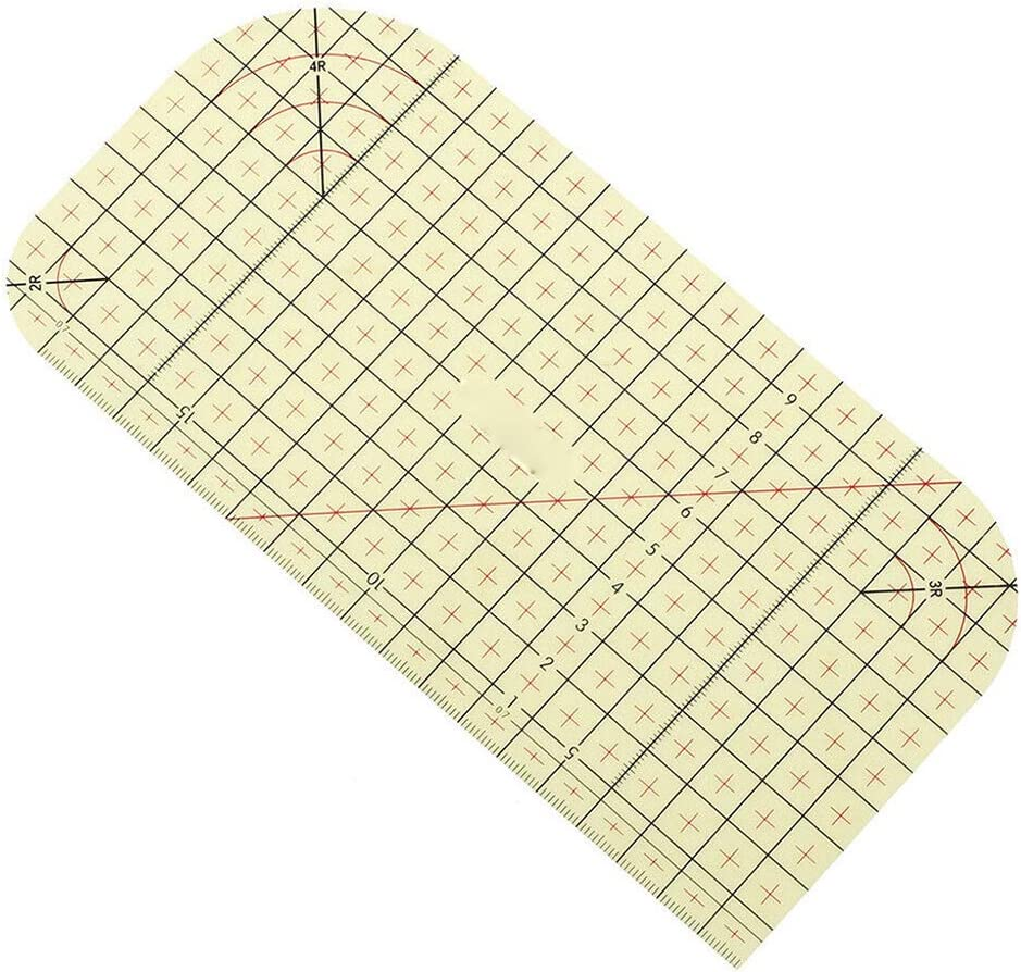and Miter Corners Use with Dry or Steam Iron and Press Deep Hems Fold Hot Ironing Ruler Long Hems Patchwork Control Ruler Measure Mark Quilting Ruler DIY Sewing Supplies