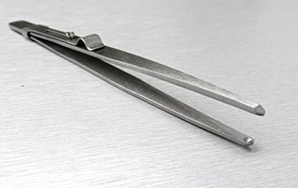 "Bead Tweezers Slide Locking Holding Tweezer Hollow Tips 5-1//2/"" Beading Jewelry"
