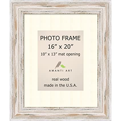 Amazon.com - Amanti Art Picture Frame, 16x20 Matted to 10x13 ...