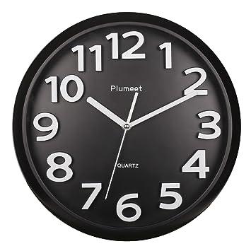 """Gran número reloj de pared, plumeet 13 """"silencioso reloj de pared con números"""