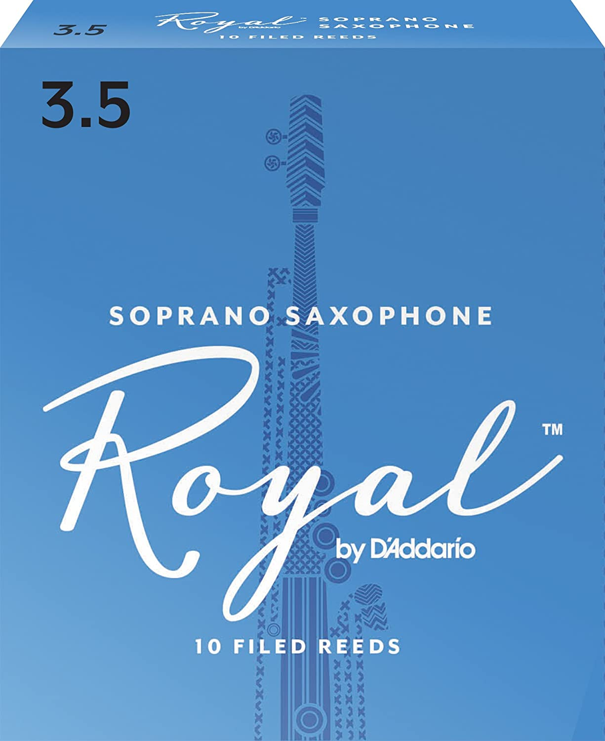 Royal by D'Addario RIB1025 Soprano Sax Reeds, Strength 2.5, 10-pack D'Addario &Co. Inc