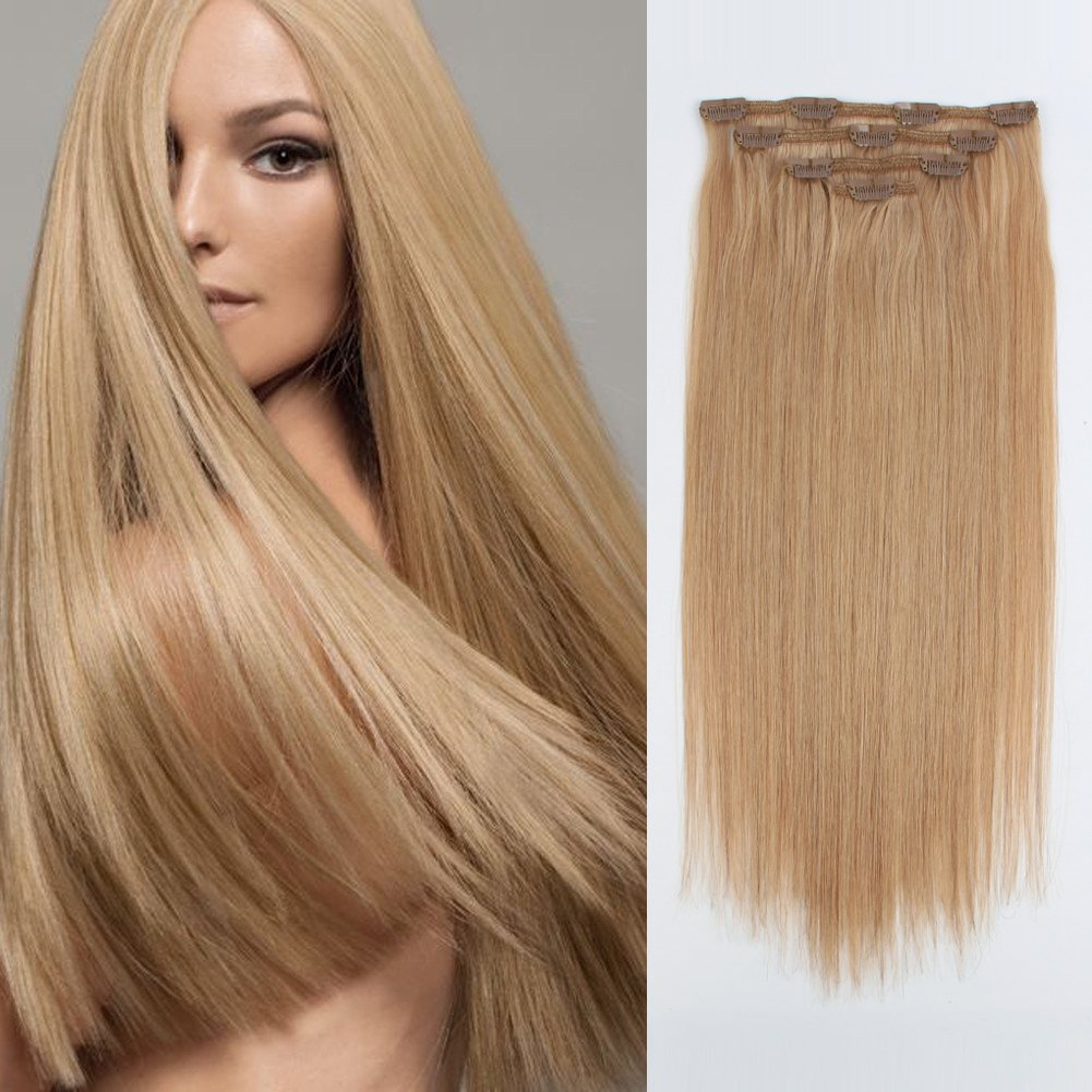 Amazon Sassina Real Human Hair Clip In Extensions Double Wefts