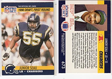 Junior Seau 1990 Proset Rookie Football Card San Diego