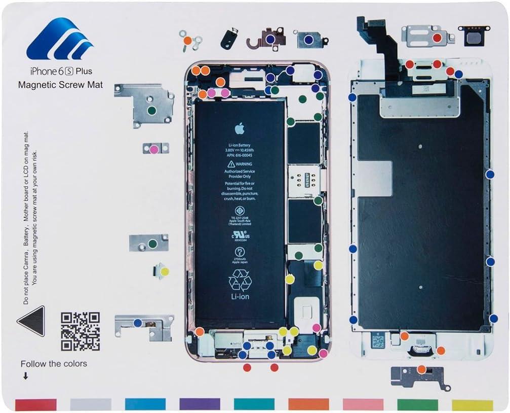 HONGYU Smartphone Spare Parts Magnetic Screws Mat for iPhone 6s Plus, Size: 24.9cm x 19.9cm Repair Parts