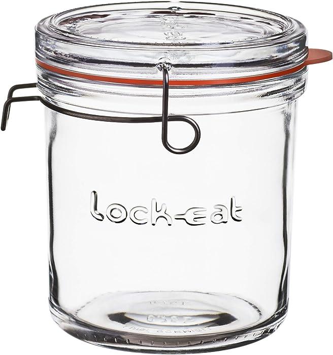 Luigi Bormioli Lock-Eat 25.25 oz XL Food Jar, 1 Piece, Clear