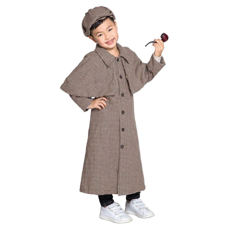 LOLANTA Disfraz de Sherlock Holmes para niños Disfraz de Cosplay ...