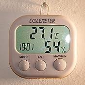 thermo hygrometer colemeter digital multi uhr thermometer hygrometer luftfeuchtigkeit messen. Black Bedroom Furniture Sets. Home Design Ideas