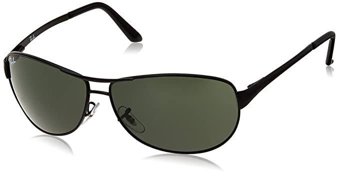 c9a1ef1038 Ray-Ban Aviator Men's Sunglasses (Black)(0RB3342I00660|Green ...