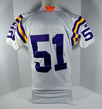 new style f4cc4 fd381 1994 Minnesota Vikings Carlos Jenkins #51 Game Issued White ...