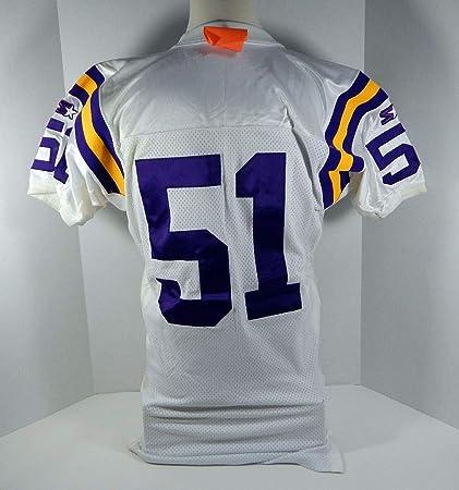 new style 754d8 e50dd 1994 Minnesota Vikings Carlos Jenkins #51 Game Issued White ...