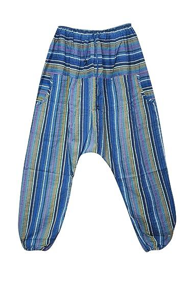Mogul Interior Womens Baggy Pant Blue Boho Yoga Harem Pants ...