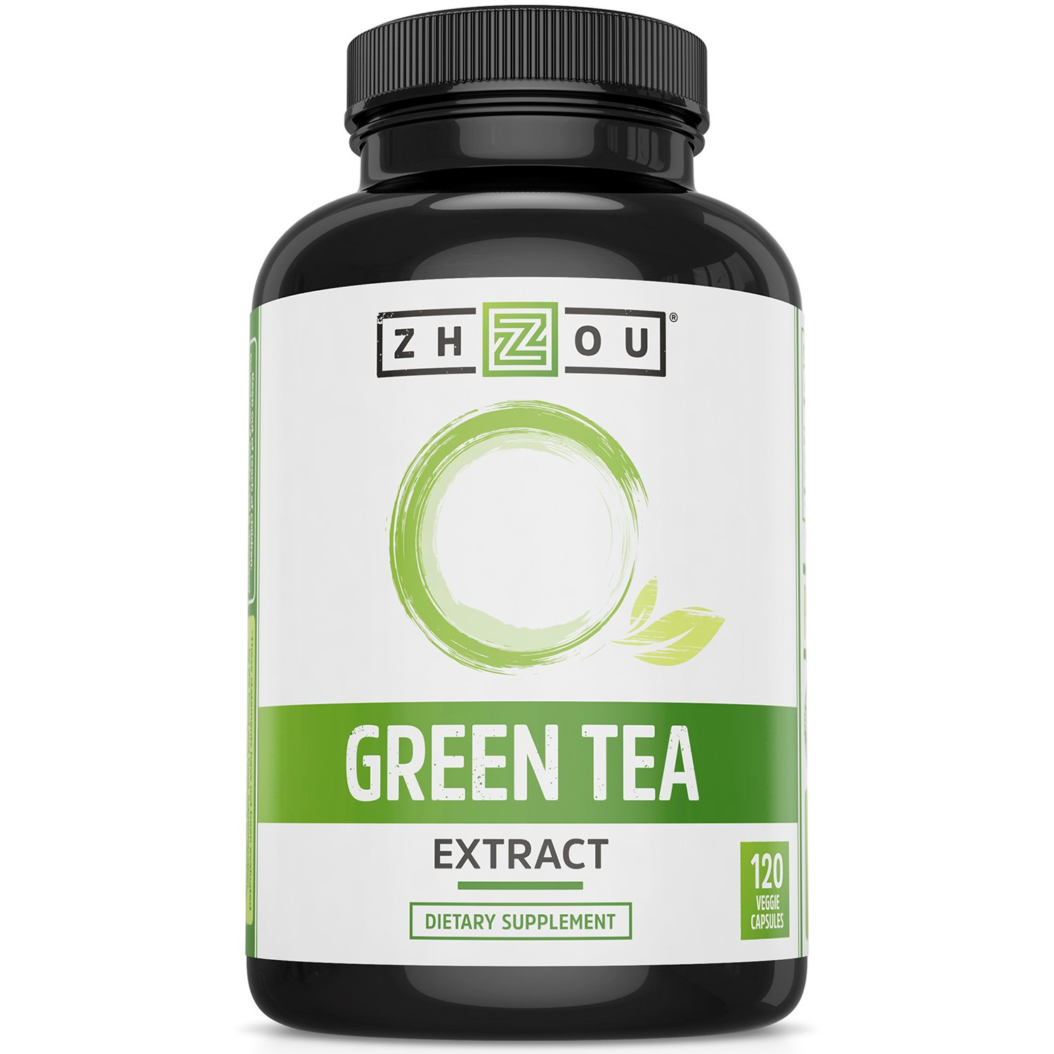 Green Tea Extract Supplement with EGCG for Healthy Weight Support- Metabolism, Energy and Healthy Heart Formula - Gentle Caffeine Source - Antioxidant & Free Radical Scavenger - 120 Veggie Capsules by Zhou Nutrition