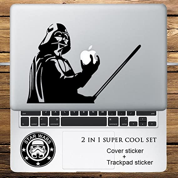 Circle Love Computer Decals Star Wars Darth Vader 2 In 1 Cover Sticker + Trackpad Stickers