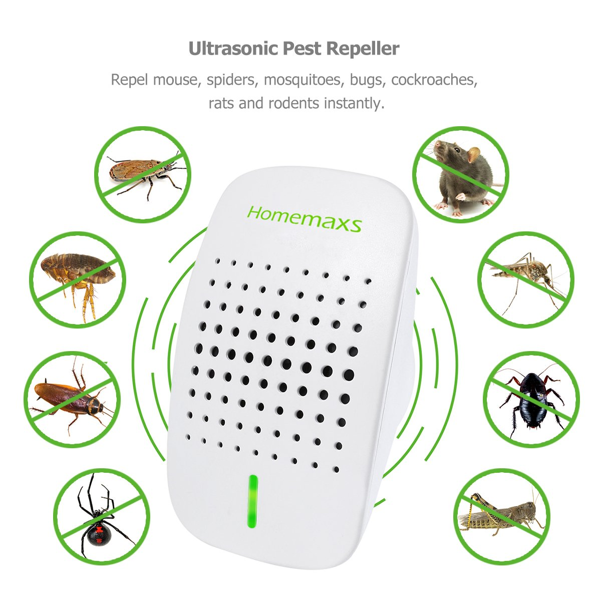 Ultrasonic Pest Repeller 2018 Upgraded Pests Control Electronic Mosquito Repellent Circuitbest Repellentindoor Plug In For Spider And All 100 Safe Human Pets