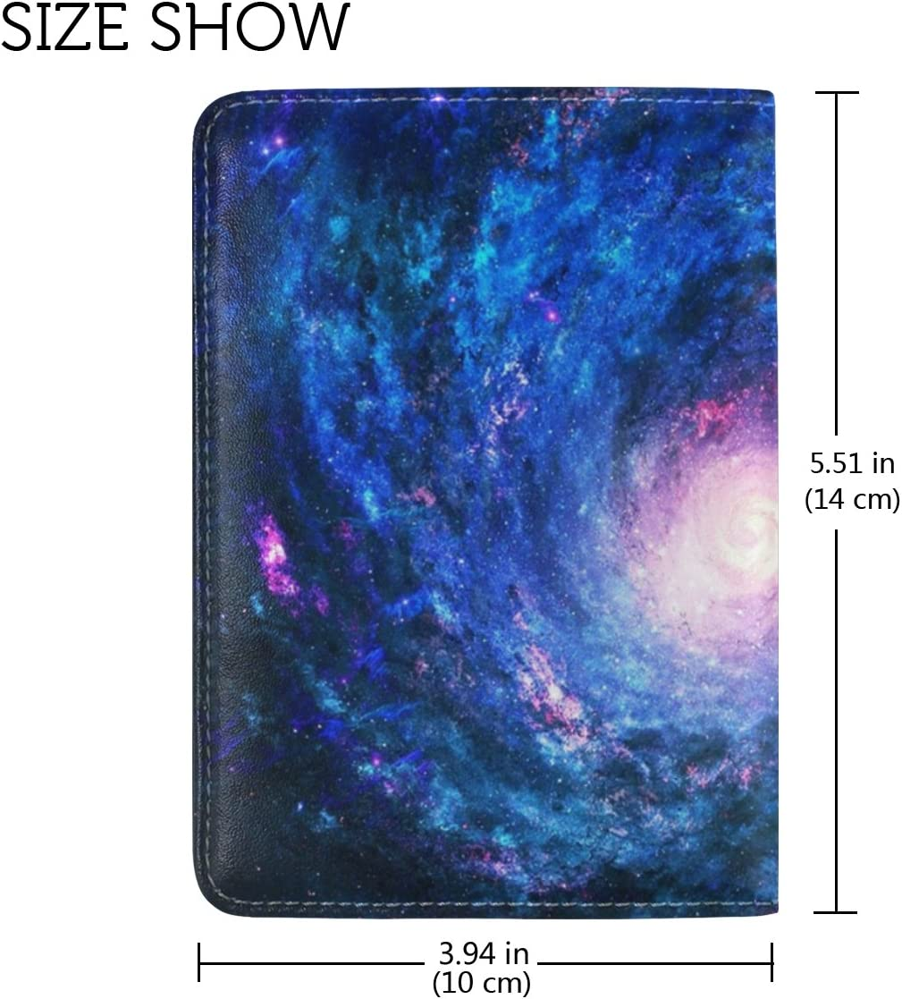 LEISISI Star Genuine Real Leather Passport Holder Cover Travel Case