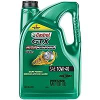 Deals on Castrol 03111 GTX High Mileage 10W-40 Motor Oil 5-QT