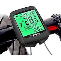 BACKTURE Cuentakilómetros para Bicicleta, 5 Idiomas Impermeable Computadora de Bicicleta, Velocímetro inalámbrico…