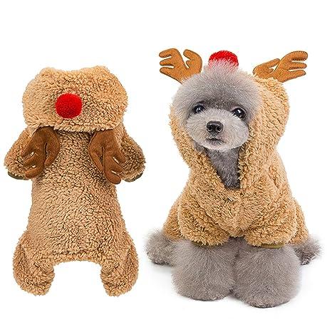 Florvine Disfraz de Reno de Navidad para Perro, Navidad, con ...
