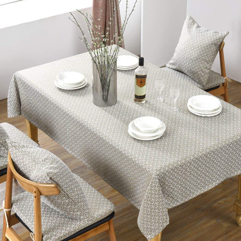 Shuangdeng フレット布生地テーブルクロスコーヒーテーブルラウンドテーブル (Color : B, サイズ : 130x190cm(51x75inch)) 130x190cm(51x75inch) B B07S667YJK