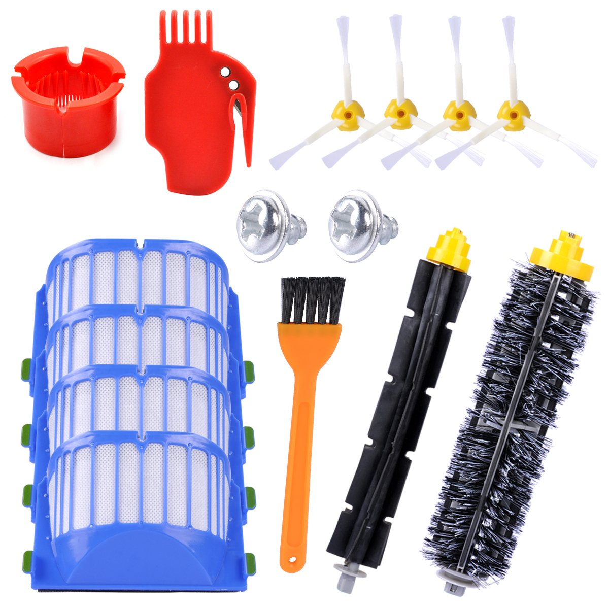 12 Pcs Kit de Accesorios de Repuesto para iRobot Roomba Serie 600 605 610 615 616 620 625 630 631 632 639 650 651 660 670 680 681 por KEEPOW: Amazon.es: ...