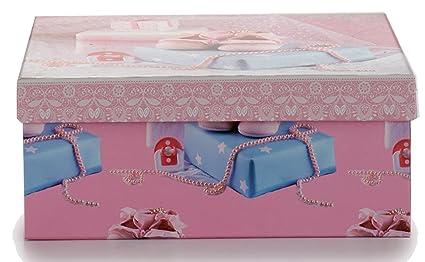 ArteRegal Caja, Diseño Bebé, Cartón Forrado, Rosa, 9.5x16.0x22.
