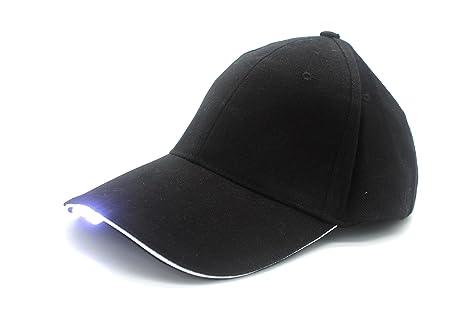 VIPAMZ Hands Free Black Hat with Headlamp 5 Bright LED Lights Unisex Baseball  Cap 27597e1a602d
