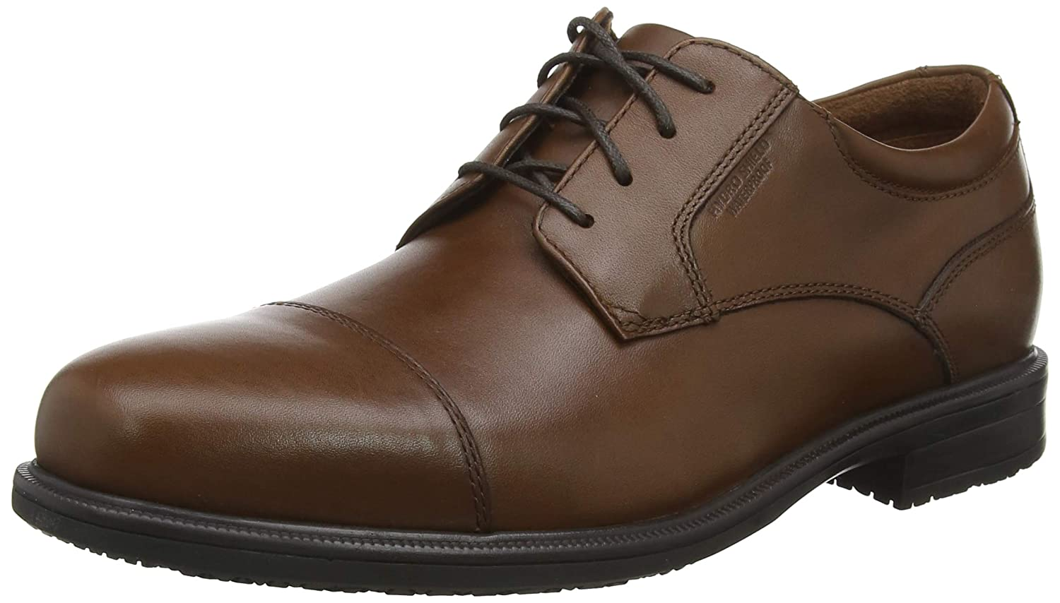 TALLA 43 EU. Rockport Esntial Dtlii Captoe Tan Antique Le, Zapatos de Cordones Oxford para Hombre