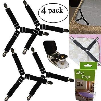 bdf43e9b4291d Yaobabymu Triangle Bande de drap de lit Attaches jarretelles Sangles  Drap-housse en coin support