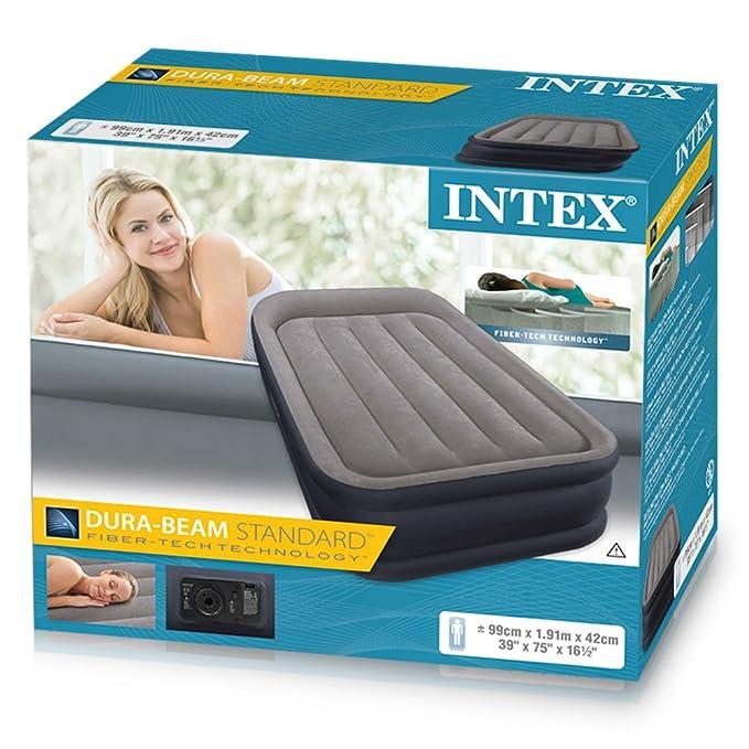 Intex 64132 - Colchón hinchable Dura-Beam Standard Deluxe Pillow ...
