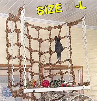 20 u0026quot  x20 u0026quot  parrot bird swing thick chew rope hammock hanging cage toys climbing ladder amazon     20   x20   parrot bird swing thick chew rope hammock      rh   amazon