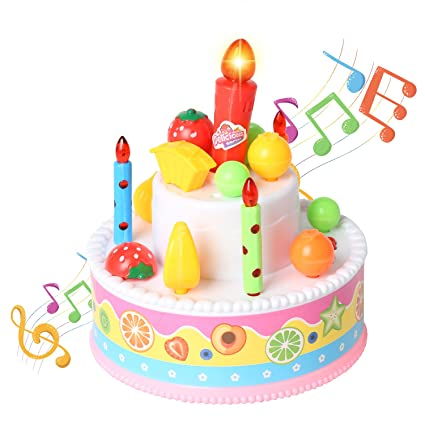 Rainbow Yuango Record And Playback 46quot Musical Birthday Cake Toy With Light Up Candle