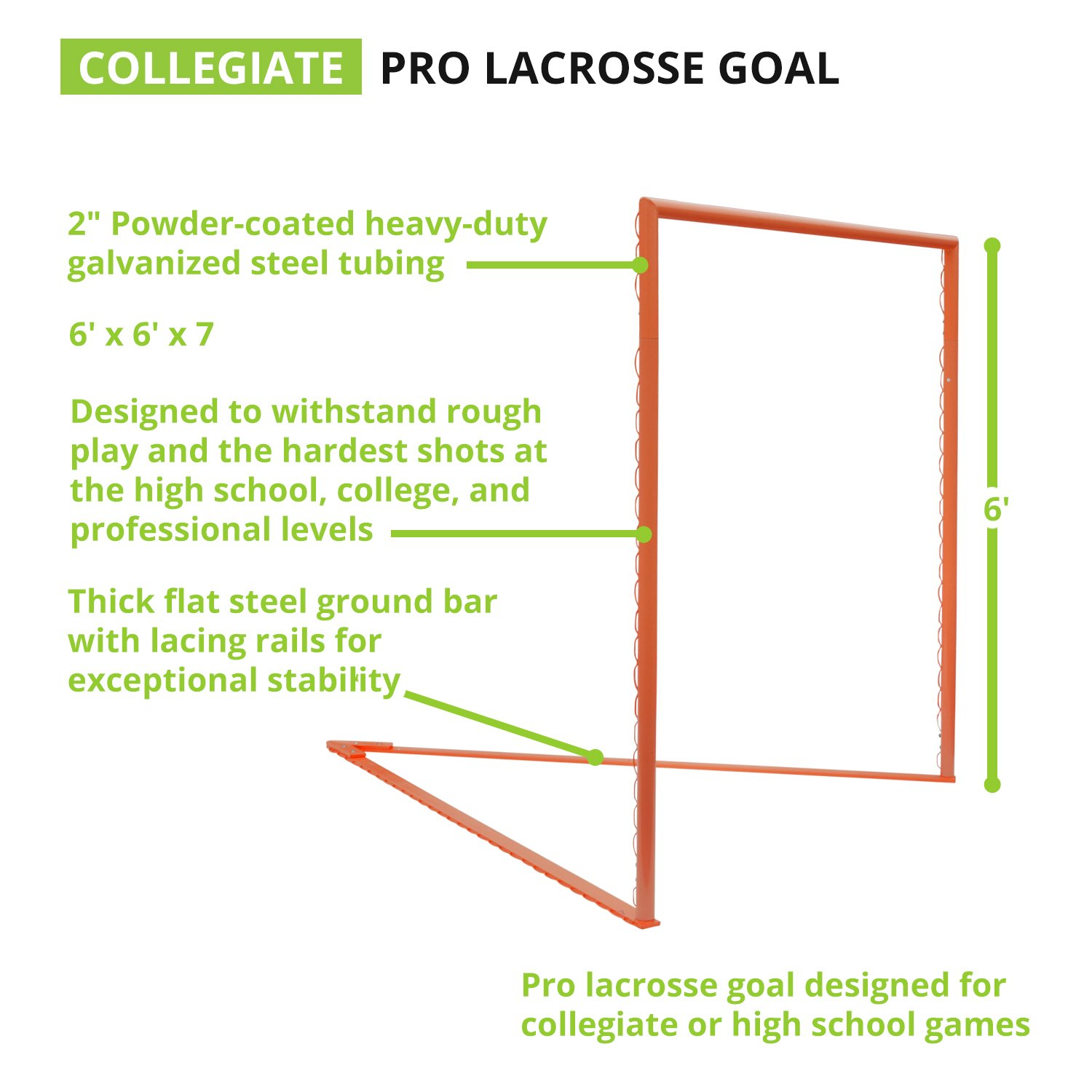 amazon com champion sports collegiate lacrosse goals 6x6 feet