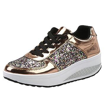 Zapatos de mujer, ❤️Amlaiworld Zapatos planas de mujer Calzado Moda Zapatillas de cuña para