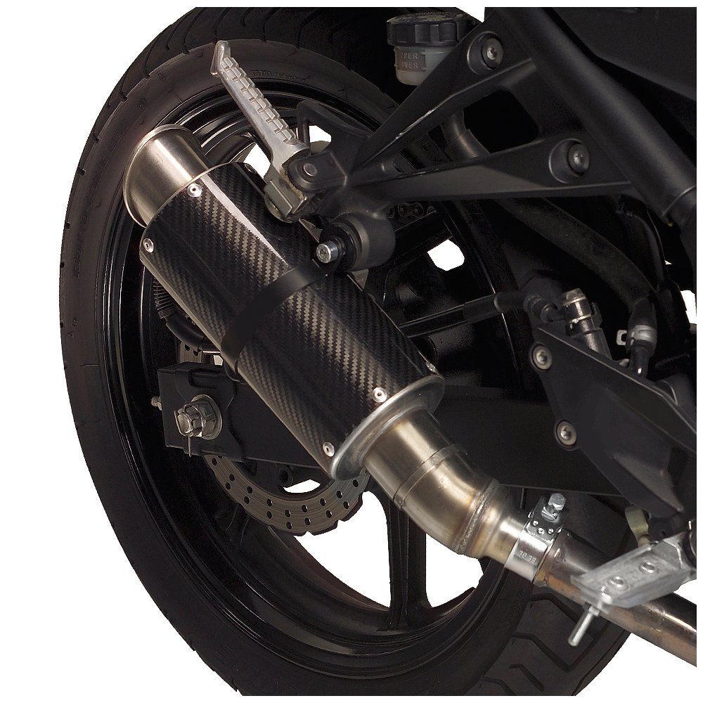 Ninja 250R CF w//Stainless End Cap MGP Exhaust 08-13 Hotbodies Racing 50802-2404 KAW