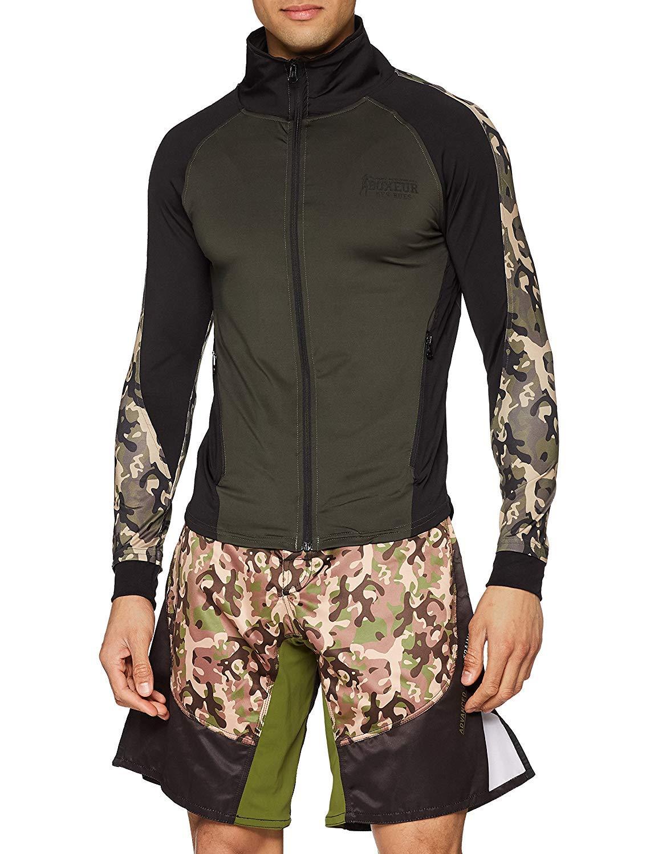 BOXEUR DES RUES Herren Bxt-4807 Mit Enges Sweatshirt Mit Durchgehendem Reißverschluss Und Hohem Kragen