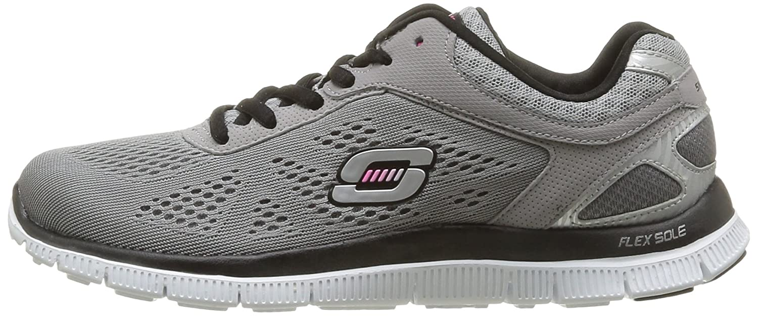 e3e2fde1a9 Skechers Flex Appeal Love Your Style, Scarpe da Ginnastica Donna, Grigio  (Grau (LGBK), 35 EU: Amazon.it: Scarpe e borse