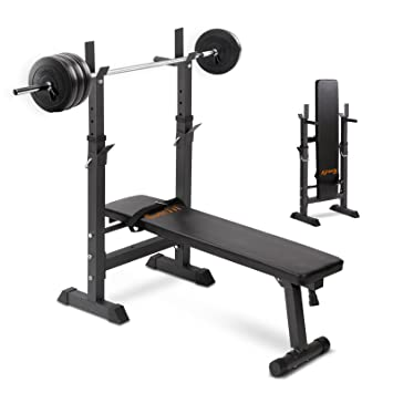 Everfit Adjsutable Weight Bench Press 40kg Weights Barbell Set 150kg