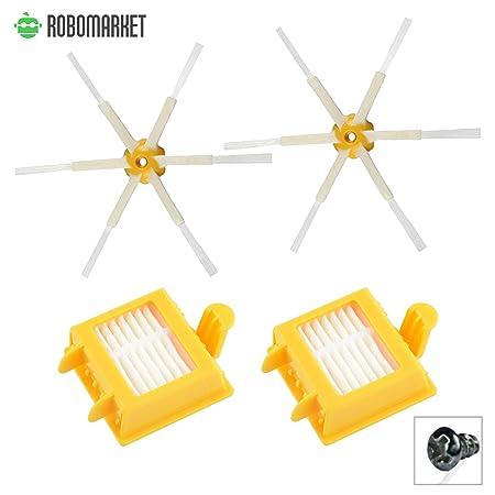 Amoy Kit De Recambio iRobot Roomba Series 700 Serie 770 774 782 785 780 PET Calidad garantizada. Econ/ómico cepillo lateral rodillo central y accesorios Filtro