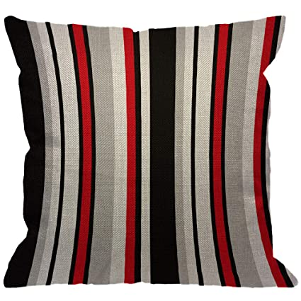 Cool Amazon Com Hgod Designs Stripe Throw Pillow Cover Abstract Theyellowbook Wood Chair Design Ideas Theyellowbookinfo