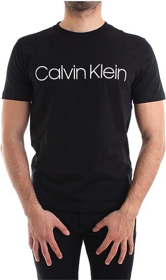 Calvin Klein Hombres Camiseta con Logotipo de algodón orgánico ...