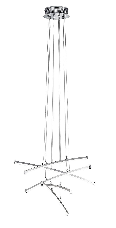 WOFI A LED Pendelleuchte Metall 4.8 W Integriert 600 x 1500 x 600 cm, Nickel matt Chrom 7035.05.54.5000