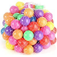 Mumoo Bear 5.5cm 100PCS Soft Plastic Kids Play Ball,Ocean Ball,Colorful Ball Fun Ball Kids Ball Swim Pit Toy Ball Tent…