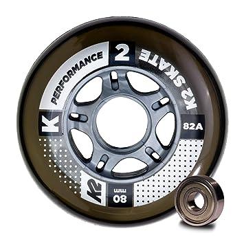 K2 30B3009.1.1.1SIZ Juego de 8 Ruedas para Patines en línea, 80 mm, ILQ 7, tamaño único: Amazon.es: Deportes y aire libre