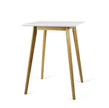 Tenzo Bess Designer Bar Table, MDF and Solid Oak, 105 x 80 x 80 cm ...