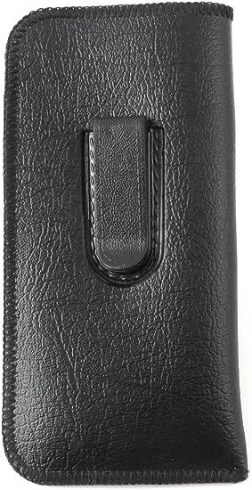 Large, Black Faux Leather Soft Slip In Glasses Case
