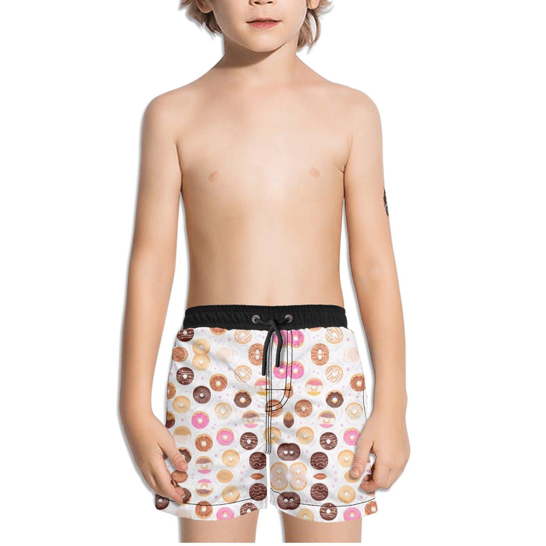 Ouxioaz Boys Swim Trunk Pink Donuts Beach Board Shorts