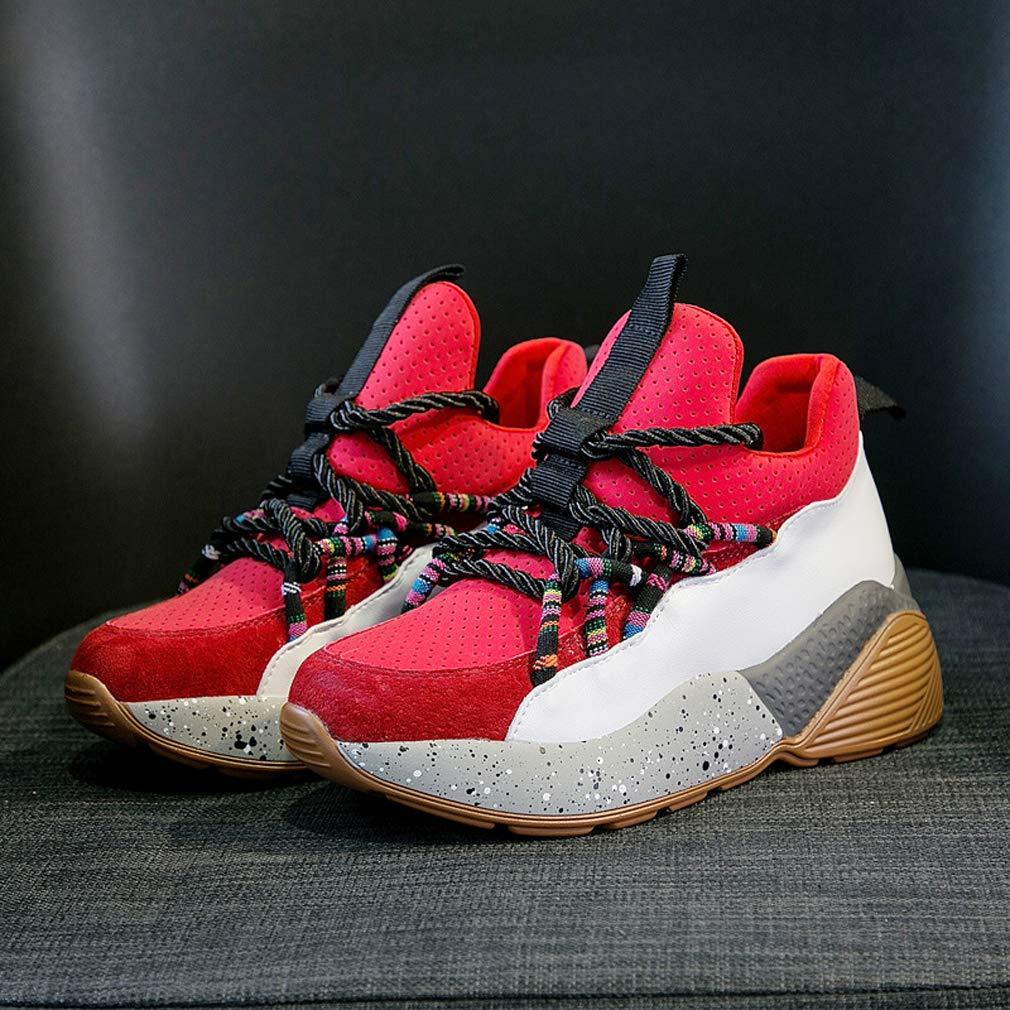 GoldGOD Joker Platform Sportschuhe Sportschuhe Sportschuhe Ins Schuhe Student Freizeitschuhe Atmungsaktiv rot 37UK 78dd0c